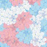 Ljus sömlös modell med blommor vektor för detaljerad teckning för bakgrund blom- Arkivbilder