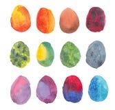Ljus samling av kulöra ägg Royaltyfri Illustrationer