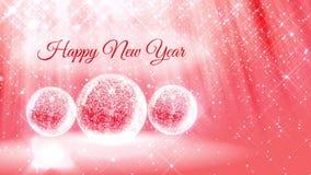 Ljus sammansättning för nytt år med snö från blänker partiklar och mousserar i snowglobe eller kastar snöboll Med strålar liksom lager videofilmer