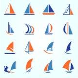 Ljus segelbåt Royaltyfria Foton