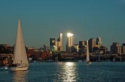 ljus seglingfläck arkivbild