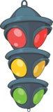 ljus semaphoretrafik för tecknad film Arkivfoto