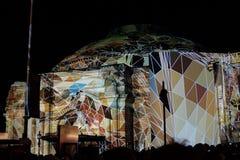 Ljus show i Edinburg arkivfoton