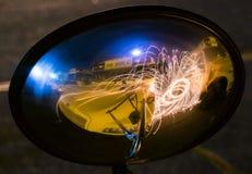 Ljus showserie Arkivfoto