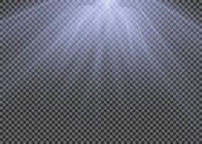 Ljus signalljusspecialeffekt med strålar av ljus och magi mousserar Uppsättningen för ljus effekt för vektorn för glöd blänker de royaltyfri illustrationer