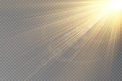 Ljus signalljusspecialeffekt med strålar av ljus royaltyfri illustrationer
