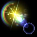 Ljus signalljusspecialeffekt. vektorillustration. Royaltyfri Bild