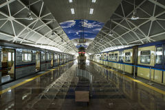 Ljus slutligen av tunnelen Arkivfoto
