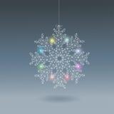 ljus snowflake Fotografering för Bildbyråer