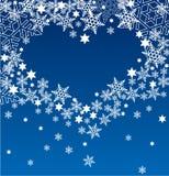 ljus snowflake för hjärta Royaltyfri Foto