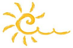 Ljus sol för sommar royaltyfri illustrationer