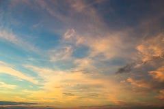 Ljus solnedgånghimmelbakgrund Royaltyfria Foton