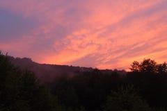 Ljus soluppgång Arkivfoto