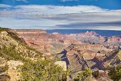 Ljus soluppgång för morgon på Grand Canyon, Arizona USA Fotografering för Bildbyråer