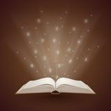 Ljus som kommer från boken stock illustrationer