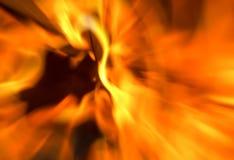 Ljus spektakulär effekt för brandbakgrundssuddighet rays mörker Royaltyfri Bild