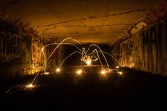 Ljus spindel Arkivfoto