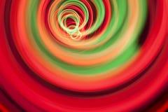 ljus spiral för oändlighet Arkivfoto