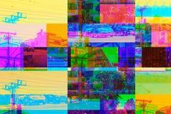 Ljus stads- collage av gatan arkivbilder