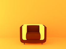 Ljus stol på en ljus orange bakgrund Royaltyfri Foto