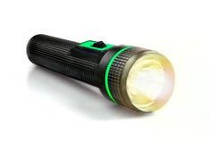 Ljus stråle från den elektriska ficklampan Fotografering för Bildbyråer