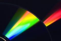 Ljus stråle på DVD Royaltyfri Bild