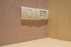 ljus strömbrytare Fotografering för Bildbyråer