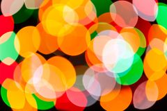 Ljus suddig festlig och färgrik textur för bakgrund för julljus abstrakt Fotografering för Bildbyråer