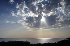 ljus sun Fotografering för Bildbyråer