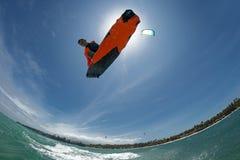 ljus surfare för aftondrakesun Royaltyfri Bild