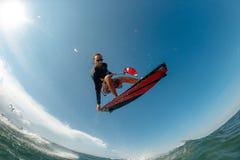 ljus surfare för aftondrakesun Royaltyfria Bilder