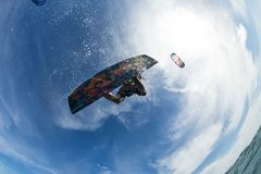 ljus surfare för aftondrakesun Royaltyfri Fotografi