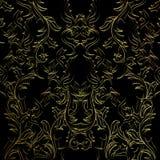 Ljus svart och guld- abstrakt modell vektor illustrationer