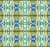 Ljus symmetrisk vertikal bakgrund Slösa, gråna, göra grön, vit och gulna pigment abstrakt målningsvattenfärg Sömlös patte Arkivfoton