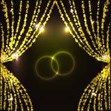 Ljus teatergardin. Royaltyfri Fotografi