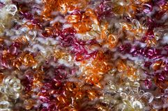 ljus textur Stucken torkduk utsmyckat garn Buculent tråd arkivfoto