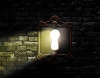 Ljus till och med ett lås Royaltyfri Bild