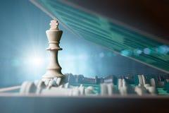 Ljus till och med schackbrädet Royaltyfri Foto