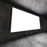 Ljus tom baneraffischtavla på betongväggen Arkivbild