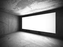 Ljus tom baneraffischtavla på betongväggen Arkivfoton