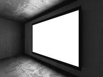 Ljus tom baneraffischtavla på betongväggen Arkivbilder