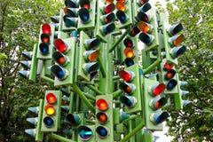 ljus trafik Arkivbilder