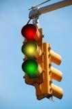 ljus trafik Arkivfoto