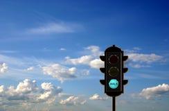 ljus trafik för begrepp Arkivbild