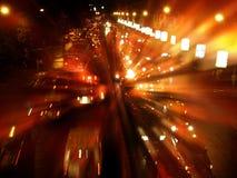 ljus trafik för blur Royaltyfri Foto