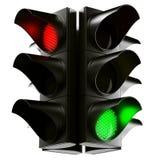 ljus trafik för kors Royaltyfria Foton