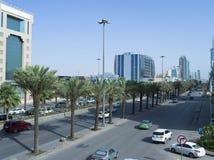 Ljus trafik på konungen Fahad Road Royaltyfria Bilder