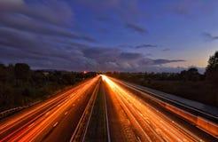 ljus trail arkivfoto