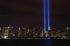 ljus tribute 9 11 2010 Royaltyfri Bild