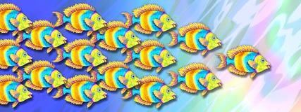 ljus tropisk fiskskola royaltyfri illustrationer